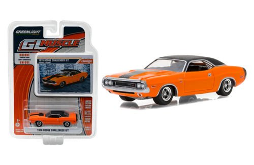 MUSCLE SERIES 17 COLLECTION - ORANGE 1970 DODGE CHALLENGER R/T Diecast Model Car By Greenlight (Muscle Diecast Cars)