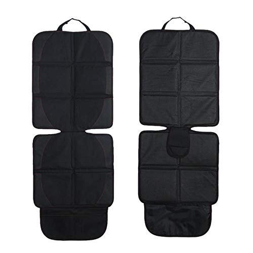 Car Seat Protector, Large Auto Car Seat Protectors for Child Baby Safety Seat,Thick Padding Carseat Kick Mat with Organizer Pockets,Vehicle Dog Cover Pad for SUV Sedan Leather Seats