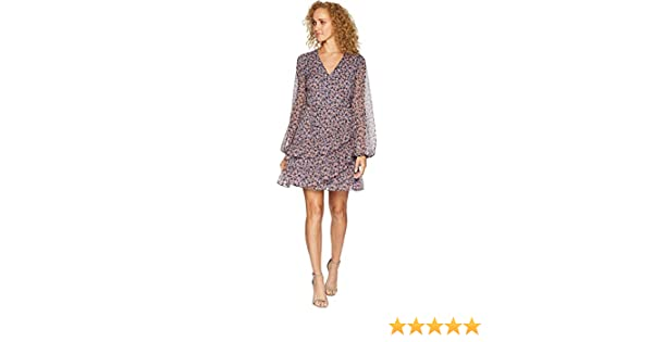 c67e86ad320d State Womens Long Sleeve Ditsy Drift Ruffled Wrap Front Dress at Amazon  Women's Clothing store: