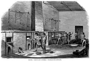 Grabado antiguo (1866) - Xilografía - Madrid.- Fábrica De La ...
