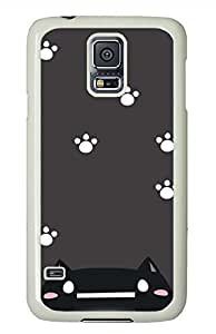 Lovely Catlike India PC White Hard Case Cover Skin For Samsung Galaxy S5 I9600