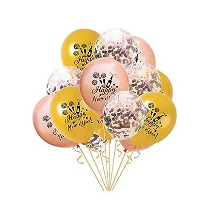 Amazoncom 15pcs Happy New Year Balloons Sets Latex Balloons Party