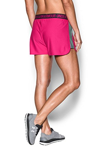 Under Armour Women's UA Play Up 2.0 Shorts, Tropic Pink/True Gray Heather, XXSmall by Under Armour (Image #2)