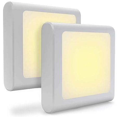 Steckdose LED Nachtlicht mit Dämmerungssensor, Warmweiß Nachtlichter für Mitternacht Bequemlichkeit, Schlafzimmer, Kinderzimm