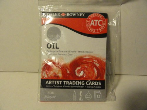 Oil Artist Trading Cards - 12 Count (12 Cards Pack Trading)