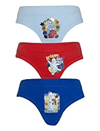 Cartoon Character Products Igglepiggle 3 pack boys In the Night Garden Pants, Va - Blue Red Blue 2-3 Years