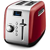KitchenAid KMT222ER 2-Slice Toaster with Manual High-Lift Lever and Digital Display - Empire Red by KitchenAid