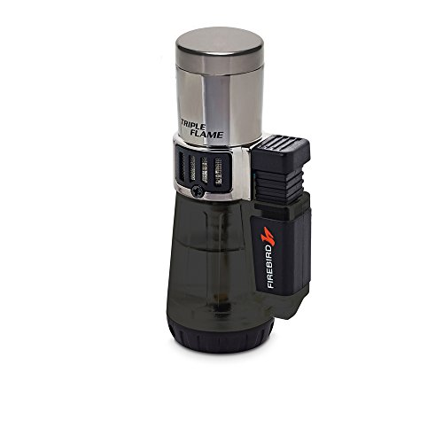 Firebird by Colibri Afterburner Triple Torch Cigar and Cigarette Lighter Warranty Black ()