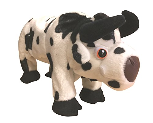 Charging Cow Bull Jumping Plush Animal Toy with Sound Effects