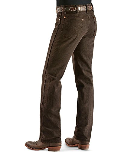 Black Denim Jean Chocolate (Wrangler Men's Cowboy Cut Slim Fit Jean, Black Chocolate, 38Wx32L)