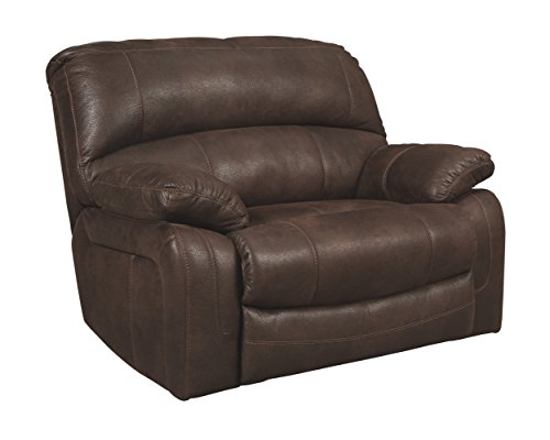 Cheap Ashley Furniture Signature Design – Zavier Oversized Recliner – Contemporary Reclining Sofa – Truffle