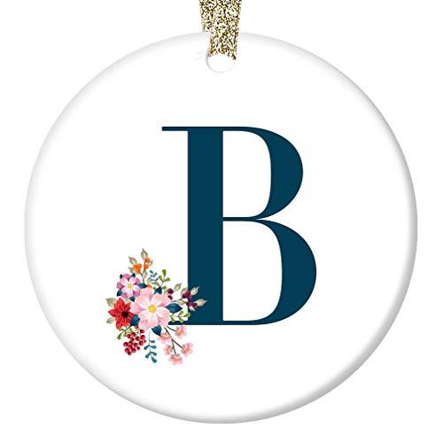 B Girl's Name Initial Ornament