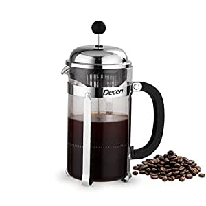 Decen French Press Coffee and Tea Maker, 1 Liter, 8 Cups