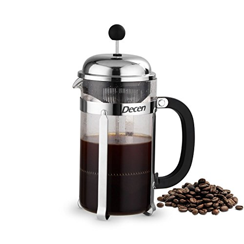 Decen French Press Coffee & Tea Maker - 1 Liter, 8 Cups, 34 Oz