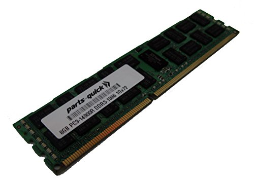 8GB Memory for IBM System x3550 M4 DDR3 PC3-14900 1866 MHz ECC Registered DIMM RAM (PARTS-QUICK BRAND)