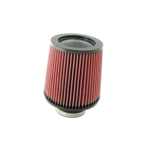 K&N Universal Clamp-On Engine Air Filter: Washable and Resuable: Round Tapered; 6 in (152 mm) Flange ID; 6 in (152 mm) Height; 7.5 in (191 mm) Base; 4.5 in (114 mm) Top , RF-1048 (2006 Pontiac Grand Prix Cold Air Intake)
