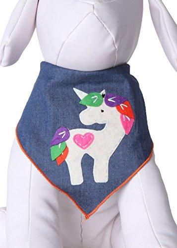 Tail Trends Unicorn Dog Bandana for Medium to...