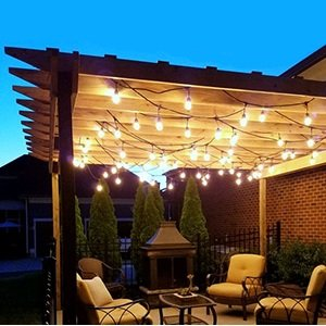 SUPERDANNY UL Approval Outdoor String Lights 52ft Commercial Grade Weatherproof Edison Vintage 30 Bulbs (6 for Spare) with 30pcs Cable Ties as Bonus, for Patio Gazebo Porch Garden Backyard Wedding by SUPERDANNY (Image #4)