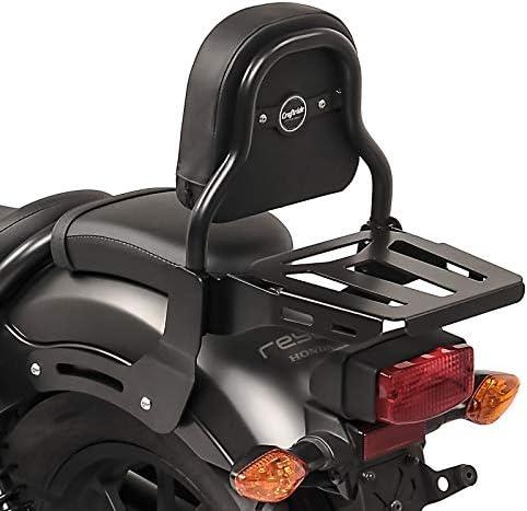 Respaldo XS3 para Honda Rebel 500 17-20 con Portaequipaje Negro
