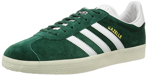 adidas Gazelle, Zapatillas Unisex Adulto Green (Collegiate Green/Vintage White/Gold Met.)