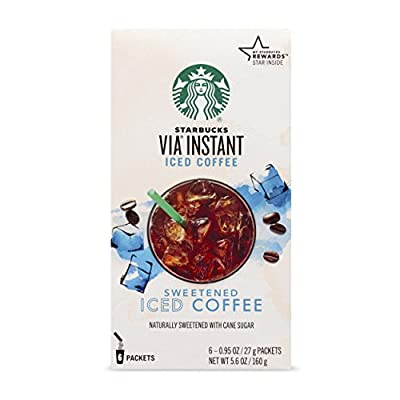 Starbucks VIA Instant Coffee, Sweetened Iced Coffee, 6 Count