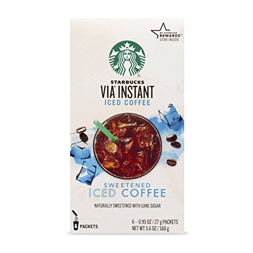 Ice Coffee - Starbucks VIA Instant Sweetened Iced Coffee (1 box of 6 packets)