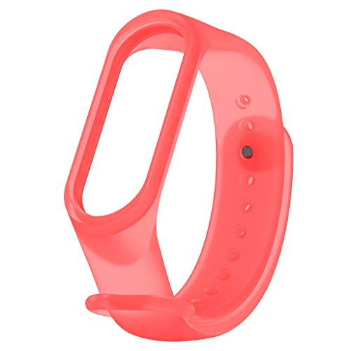 Price comparison product image BIYATE Sport Bands Compatible for Xiaomi Mi Band 4 / 3, Soft Transparent TPE Breathable Strap Replacement Accessories Bands Wrist Strap Band for Xiaomi Mi Band 4 / 3