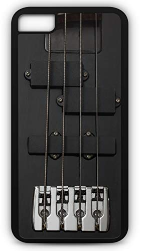 iPhone 8 Plus 8+ Case Guitar Bass Instrument Black Electrically Music Customizable by TYD Designs in Black Plastic Black Rubber Tough Case ()