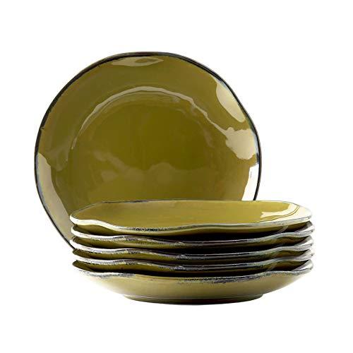 Tuxton Home THGAJ006-6B Artisan Dinner Plate, 10.25-Inch, Olive Green (Dinner Olive Plate Green)
