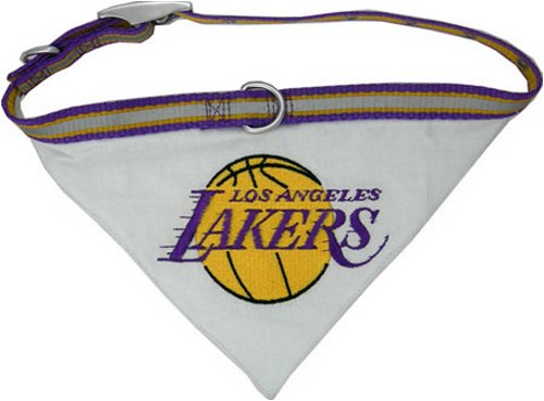 Pets First NBA BANDANA - LOS ANGELES LAKERS DOG BANDANA with Reflective & Adjustable DOG COLLAR, Small