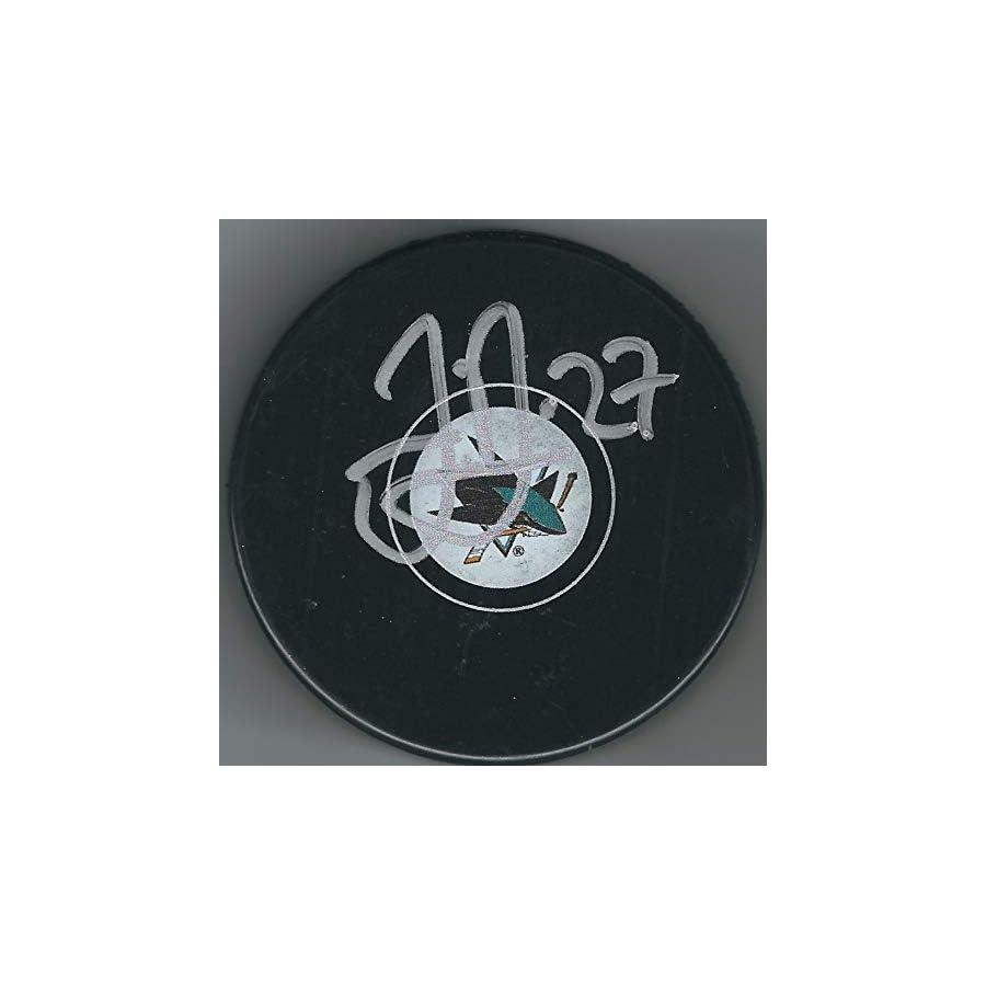 Autographed Joonas Donskoi San Jose Sharks Hockey Puck