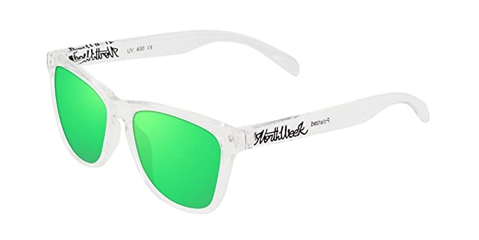 NORTHWEEK Creative, Gafas de Sol Unisex, Bright White/Green, 52