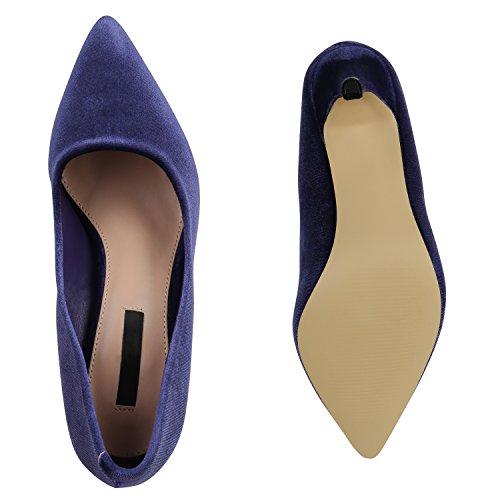 b66aa3cdb7c597 ... Stiefelparadies Klassische Damen Pumps Übergrößen Stiletto High Heels  Leder-Optik Party Schuhe Lack Metallic Abendschuhe
