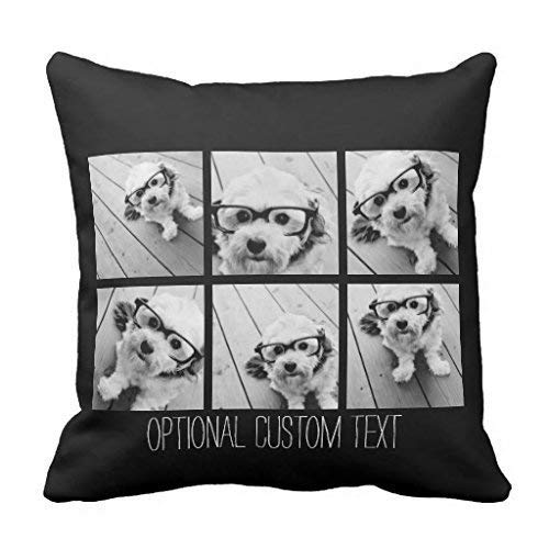 Intheend Personalized Photo Collage Cute Dogs, Funny Home Decor Daily Decorations Sofa Throw Pillow Cover Cushion Covers Zippered Pillowcase,18