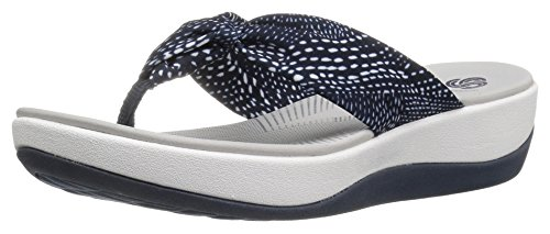 clarks-womens-arla-glison-flip-flop-navy-white-dots-fabric-10-m-us