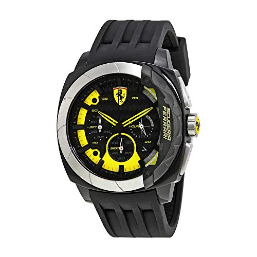 Ferrari Men's 830206 Aerodinamico Black Watchwith Silicone - Performance High Watch Chronograph