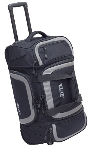 Elite Survival Systems ELS6001-B Travel Pronetm All-Aboard Rolling Gear Bag, Black/Gray by Elite Survival Systems
