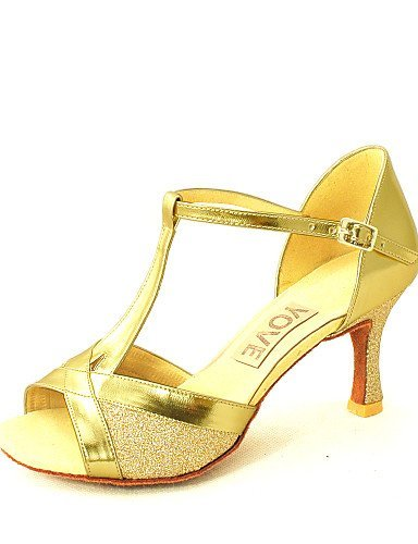 Anpassbare Silber Latin Damen Absatz Tanzschuhe Rot Salsa Schwarz Kunstleder Gold Schwarz Blau Customized ShangYi dpRPqZndt