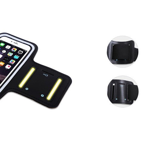 Funda Brazalete Profesional de Neopreno Premium para Brazo Deporte Correr y Gimnasio para = Samsung Galaxy S10+ Plus 6.4 2019  Negra DFV mobile