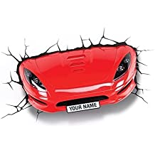 3DLightFX Vehicles Red Sports Car 3D Deco Light