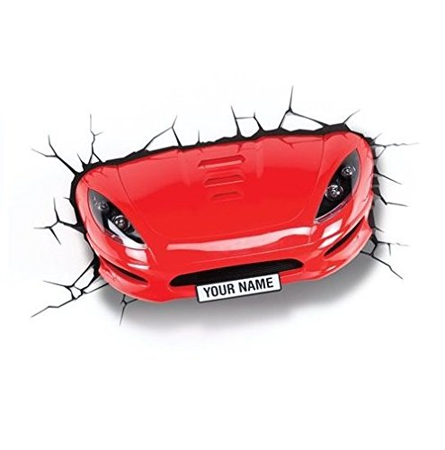 3DLightFX Vehicles Red Sports Car 3D Deco Light]()