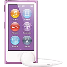 LATEST MODEL Apple Ipod Nano 7th Generation 16 GB Purple With Generic White Earpods and A USB Data Cable (Non Retail Packaged in a Brown Box)