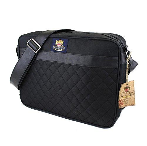 college Black satchel Bag Briefcase Quilted qq4pP8
