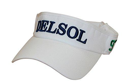 8039 サンバイザー ホワイト フリーサイズ デルソル ゴルフウェア レディース