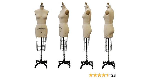 Model #601 Professional Dress Form Female Full Body Size 18 Collapsible shoulder. ST-FULLSIZE18+One Free Arm