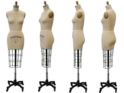 Model #601 Professional Female half Body Dress Forms For Dressmaker Collapsible Shoulder With 1 Free Arm (ST-SIZE10)