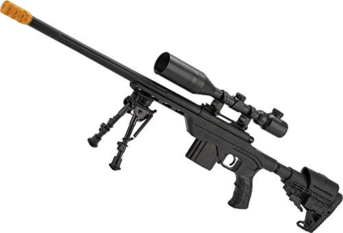 Evike King Arms MDT LSS Gas Powered Airsoft Sniper Rifle (Color: Black)