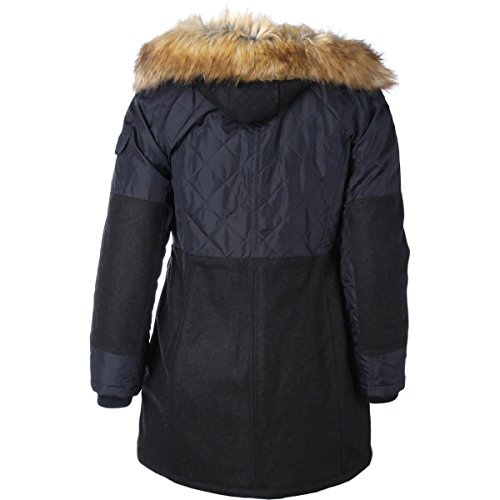 1 Madison Expedition Womens Faux Fur Lined Hooded Coat Navy XL by 1 Madison Expedition (Image #1)