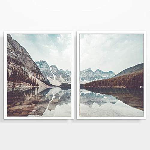 Amazon.com: Mountain and Lake Landscape Photography Prints