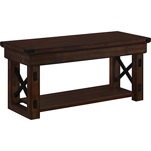 Ameriwood Home Wildwood Wood Veneer Entryway Bench, Espresso by Ameriwood Home